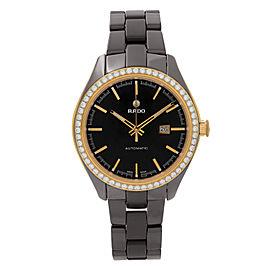 Rado HyperChrome Brown Ceramic Diamonds Bezel Automatic Unisex Watch R32177302