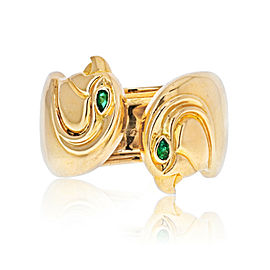 Vintage Cartier Anoubois Ring Falcon Head 18K Yellow Gold Size 50