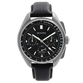 Bulova Lunar Pilot Moon Apollo Chronograph Black Dial Quartz Mens Watch 96B251