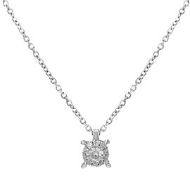 Damiani Bliss 18K White Gold with 0.10cttw Diamonds Pendant Necklace