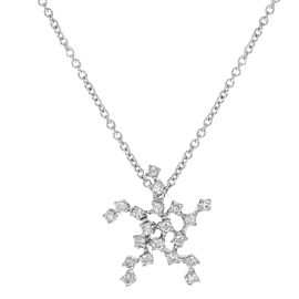 Damiani Bliss Stella 18K White Gold with 0.23cttw Diamonds Pendant Necklace