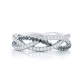 Kwiat 18k White Gold Wedding Ring From The Twist Collection Size 7