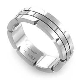 Cartier Tank Francaise 18K White Gold Band Ring Size 6.25