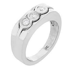 14K White Gold, 14K Yellow Gold Diamond Ring Size 8