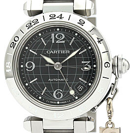 CARTIER Pasha C Meridian GMT with Charm Steel Watch W31079M7