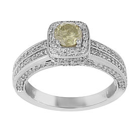 14K White Gold with 1.92ct Diamonds Engagement Ring Size 7