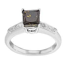 14K White Gold with 2.55ct Diamond Engagement Ring Size 7