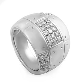 Salvini 18K White Gold & 0.60ct. Diamond Band Ring Size 6.5