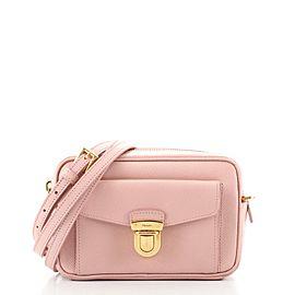 Prada Pushlock Pocket Camera Bag Saffiano Leather Small