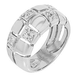 14K White Gold, 14K Yellow Gold Diamond Ring Size 7.5