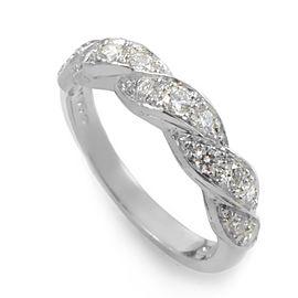 Oscar Heyman Platinum Braided Diamond Band Ring Size 4.75