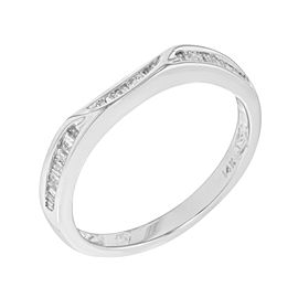 14K White Gold, 14K Yellow Gold Diamond Wedding Ring Size 7.25