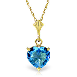 1.15 CTW 14K Solid Gold Paradox Blue Topaz Necklace