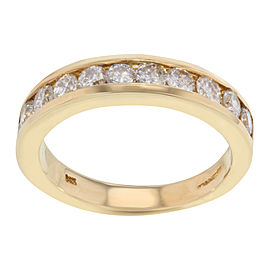 14K Yellow Gold Diamond Wedding Ring Size 6.25