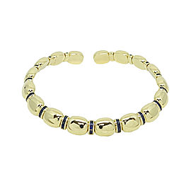 Faraone Mannella 18K Yellow Gold 6.40 ctw Sapphire Choker