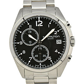 HAMILTON Khaki Pilot Pioneer Chrono H765120 black Dial Men's Watch