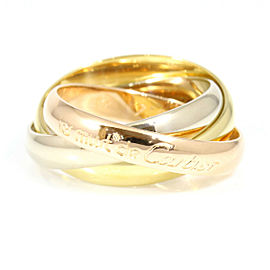 Cartier 18K White Gold,18K Rose Gold,18K Yellow Gold Three Colors Trinity Ring CHAT-134