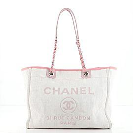 Chanel Deauville Tote Raffia Smal