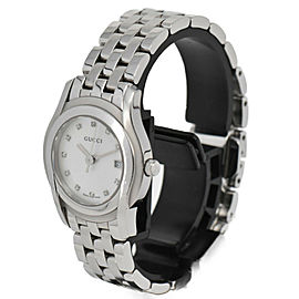 GUCCI 5500L 11P Diamond White shell Dial Quartz Women's Watch