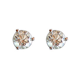 14K White Gold and 2.06ct Diamond Martini Stud Earrings
