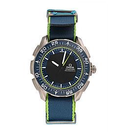 Omega Speedmaster 318.92.45.79.03.001 Titanium Blue and Green Dial 45mm Mens Watch