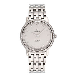 Omega DeVille 424.15.27.60.52.001 Stainless Steel & Silver Dial 27.4mm Womens Watch
