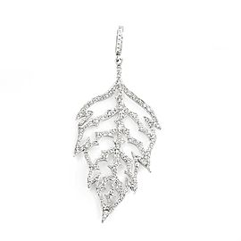 Cathy Waterman 18K White Gold Diamond Leaf Pendant