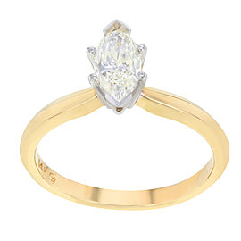14K White Gold with 0.68ct Diamonds Engagement Ring Size 6.75