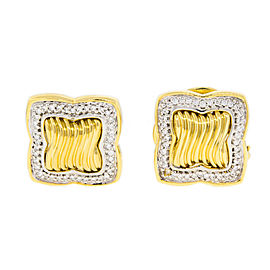 David Yurman 18K Yellow Gold with Diamond Earrings