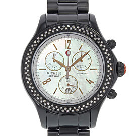 Michele Jetway 40mm Womens Watch