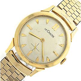 Vintage Men's LeCoultre 14K Yellow Gold 32mm Watch