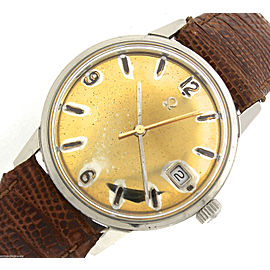 Omega Seamaster Vintage Automatic 166.037 SP Stainless Gold Date Watch 1969