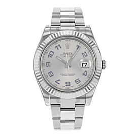 Rolex Datejust II 116334 GAO Steel & 18k White Gold Automatic Mens Watch
