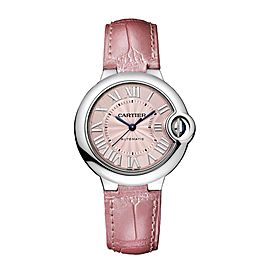 Cartier Ballon Bleu WSBB0002 Stainless Steel & Alligator Leather Automatic Womens Watch