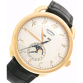 Hermes Arceau Grande Lune AR8.870 038014WW00 18K Rose Gold Moonphase Mens 43mm Watch