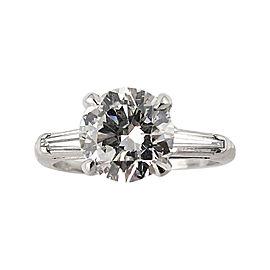 Platinum 2.15 Ct Round Diamond Vintage Engagement Wedding Ring