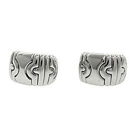 Bulgari Parentesi 18K White Gold 750 Huggie Clip-On Earrings