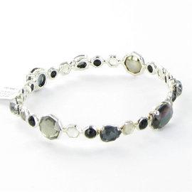 Ippolita 925 Sterling Silver Mother Of Pearl Quartz Onyx & Hematite Bracelet