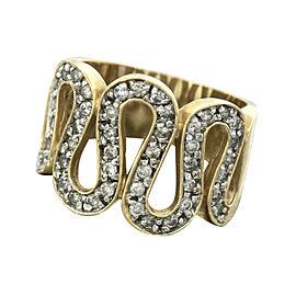 Effy 14K Yellow Gold Diamond Snake Coil Wrap Band Ring Size 7.25