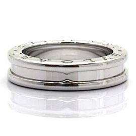 Bulgari 750 White Gold B-Zero1 Band Ring Size 5.0