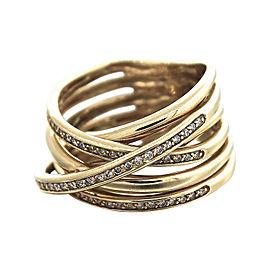 Effy Orbit 14K Yellow Gold & Diamond Cocktail Ring Size 7.5