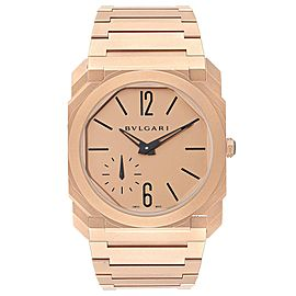 Bulgari Octo Finissimo Sandblasted Rose Gold Extra Thin Mens Watch 102912