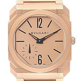 Bulgari Octo Finissimo Sandblasted Rose Gold Extra Thin Mens Watch 102912