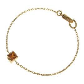 Gucci 750 Yellow Gold Citrine G Cube Bracelet