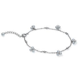 Mikimoto 18K White Gold Akoya Pearl Adjustable Bracelet