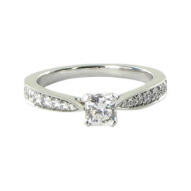 Hearts On Fire 18K White Gold 0.79ct Diamond Ring Size 6.5