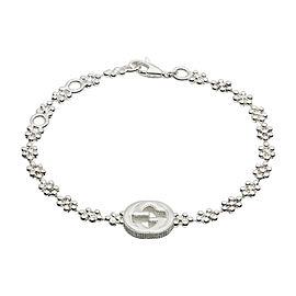 Gucci 925 Sterling Silver Interlocking G Bracelet
