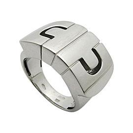 Bulgari Parentesi 18K White Gold Ring Size 4.5