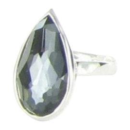 Ippolita Rock Candy 925 Sterling Silver Hematite Doublet Quartz Ring Size 7