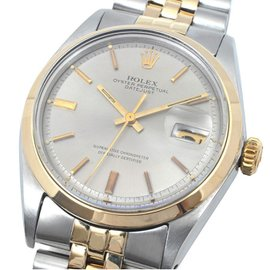 Rolex Datejust 1600 Stainless Steel / Yellow Gold Vintage 36mm Mens Watch